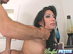 Lela Starr has the perfect petite body for our website but i have to say that the opening to this clip is probably the best when you see her taking that big cock in her mouth.  Then we get to the real action and we see her playing with her pussy while our guy gets ready to pound the lovely Lela with all his might until she comes for him and makes him cum too.  If it was me just the way she was looking at me could make me go for it and splash all over her back!