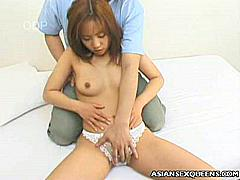 Tomomi Ayukawa's a barely legal Asian babe. She's quite shy, but she has a hot petite body that's more than ready to pleasure horny men. Check her out, she looks cute with those chinky eyes of her. Watch her undress and take hard balling in her tight slit.