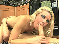 Anikka Albrite gets deep fast when she sucks dick because she wants to dredge up all the excess saliva from the hot pink sleeve connecting her mouth to her belly. That bonus lube makes a big difference later in the blowjob when her stamina can be a factor.