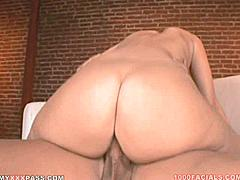 Some white gals got plenty of ass for big booty fans and Faith is one of them! When you see the way her ass crack cleaves on the small chair she rested it on you'll agree she's got a super-booty on par with any ebony love-slut you ever banged before. So soft and smackable it's the kind of ass that begs to be spanked and it's almost unfair that a sweet girl with such an angelic face also got blessed with that kind of tailgate party for an ass! Faith loves catching cum on her face but she doesn't get too much practice because most of her lovers leave their loads across her 40 inch ass - so she said it was a real treat to be on 1000 Facials having her face painted with cum for a sweet sticky change!Nut On Her Face Not Her Ass If You Don't Mind- Relentless