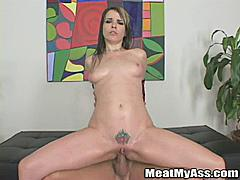 Dana DeArmond has an absolutely amazing ass.....so we had to have her on MeatMyAss.com!  Good idea because not only does she look great she is one wild girl.  From the beginning when she does a nice striptease showing off the goods showing off her tattoos and piercings before getting that perfect rear all oiled up you can tell she's up for all kinds of nasty fun-which she definitely has in this scene.  Hardcore ass banging in just about every position as she begs for more cock in her ass ass to mouth and more ending with her taking a huge load in her mouth that she hungrily licks up. One thing is for certain: she loves it in the ass-which is just how we like 'em!