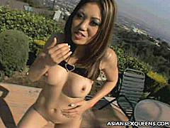 Enjoy this hot threesome with two lovely Asians with petite bodies and tight holes that they'd love to get cock crammed. Kaiya Lynn and Nyomi Zen are shy, but horny Asian beauties with sexy petite bodies and tight lusty cunt in need of white cock pampering.