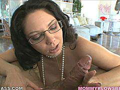 Kiki Daire just got off work and all this naughty librarian wants to do is unleash her mouth on your cock.  She sucks it hard putting her whole body into it and she loves when you get into it and fuck her mouth back.  Kiki gets off spitting on your cock as you watch her juices run down the shaft and drip off your balls.  Speaking of balls she will lick and suck them for you until you beg her to give you more.
