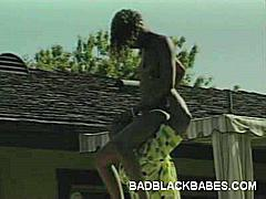 What's better than a steamy outdoor black on black scene? In this video, you'll be watching a cute ebony teen take a mean pounding outdoors. She was up to it, so we gave her a black guy to play with and had the fucking of a lifetime.
