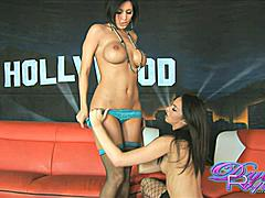 Dylan Ryder wanted to sneek onto Yuri Love's set....Tiffany Tyler was there to help her get a down and dirty on Yuri's couch! Wonder if Yuri ever found out what these two did???