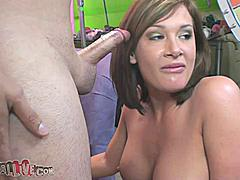 Mega porn superstar Tory Lane stripped slowly for the camera showing her tight little pussy and round perky breasts. She went straight to sucking Porno Dan's hard cock to get things started. Tory got fucked hard in her wet pussy and she smacked her own ass until it was red while her asshole was being eaten. This dirty whore enjoyed the Wheel of Debauchery and was shaking like a school girl when they were done with her.