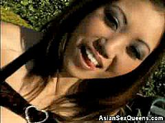 It's about time we show you this video of lovely Asian Kaiya Lynn! Kaiya's a charming young lady who's petite but has an appetite for sex that is exactly the opposite. She welcomes us into her home and gives us a little show before the main feature.
