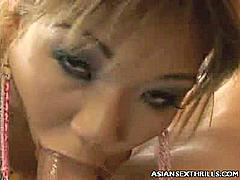 Asian pornstar Keeani Lei is a petite sweet looking dick bandit always willing to pleasure stiff cocks with her eager pussy and mouth. In this scene she got paired with two guys and pleasured them by getting cock crammed in her mouth and tight pussy.