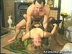 We have this video of a pretty blonde amateur spread eagled for a cock. She's the type that gets easily bored with boring vanilla sex and wants it raw and nasty. Here she gets our man to fuck her pussy raw with his rock hard tool.
