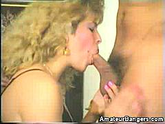 Nothing gets me more than seeing a lovely woman on her knees for a cock. In this video, you'll be seeing this pretty blonde amateur show off her love for cocks. She goes down on her man and guzzles down every inch of his stiff pole.
