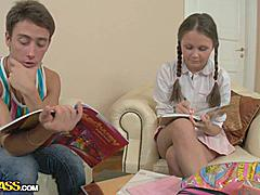 Anal porn action with the innocent teen