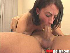Now if there is anything i love more than watching gorgeous brunettes like Marli Jane suck and fuck then it has to be watching them suck and fuck when they're dressed up in stockings!  I fucking adore watching a bit get fucked in the pussy ass or face when she's wearing a lovely sexy pair of stockings. I think unless i am very much mistaken that i can just about make out a nice pair of fishnet stockings on this horny little bitch Marli Jane.  I bet she loved getting this guy hard with a little dance or something. Check her out on 1000 facials