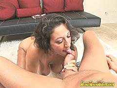 "Have you ever had a chick who took complete control and you didn't have to do a thing but lay back and let it happen? That's Persia. She's a cock-loving MILF with a set of grade A tits and a dirty mouth that needs to be washed out with cock. When she pulls her tits out of her halter top you'll drool like you're 6 days old again and dying to latch onto her mama milk jugs. She calls herself a ""cumslut"" and you know what? I'd have to agree. She uses every part of her body - from her mouth to her twat to her tits - to drain the cum out of her young stud's balls. She climbs on to ride his cock and lets her tits bounce in his face and then licks her twat juice off his cock all while keeping up a dirty commentary that would make a hooker blush. Trust me only a mom can multi-task like that!This update is certified MILF!** Monique **"