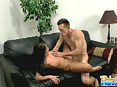 Teenie pink shaved pussy getting destroyed by a monster huge cock