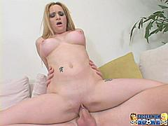 Have you ever passed a soccer field spied all the hot moms in tight sweaters and decided to dip in and get your dick wet? No? After watching this video you'll totally be thinking about it. Aiden Starr is a young single mom who came out to watch her son's soccer match but obviously her mind is more on scoring some cock. She loves three things - younger guys married guys and great sex. We've got all three covered! Our guys take her to the car and squeeze her milky mom tits and flick her rosy pink nipples until they turn her on enough to convince her to come with them. They end up back at our married stud's house where she jumps onto his cock and fucks him like this is her first piece of dick in ages. I'm just glad his wife didn't catch him painting Aiden's face with a load of soccer sperm. Mommy's gone wild!**Monique**