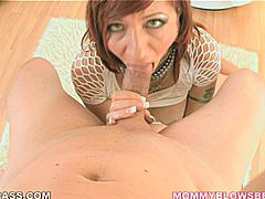 Brittany Blaze is a gagger.  She likes for a cock to hit the back of her throat and set off her gag reflex so she gets that slippery spit up and into her mouth and onto your hard rod.  She gags her self so bad that she has to cough it off in this hardcore blowjob scene.  If you like to see red heads choking on cock this is the scene to see.  Her little brown nipples are hard the whole time showing you just how much this bitch loves to suck.