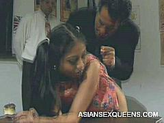 Hot Asian Jade Marcela joins two guys for an intense threesome and goes right to work sucking off dicks. She wraps her mouth around a thick raging wang while the other guy fingers and eats out her snatch then spit roasts her filthy pleasure holes.