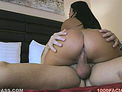 Angelica Heart is ready to ride. Reaching back with one hand to hold her ass cheeks apart and doing all the work while on top. It won't be long before this gorgeous brunette is covered in cum