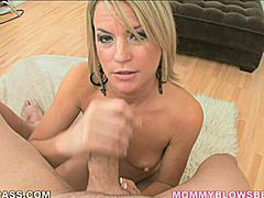 Jessie Fontana looks fantastic as she pops her lips off a cock head making that sucking noise that lets you know shes giving good head.  Her earrings fly back and forth as she puts her whole neck and head into it.  A cute blonde with tiny tits and hard nipples she is sure to make you want to blow your load all over her sweet face and breasts.  She's a ball cupper so get ready to be worked from underneath as well.
