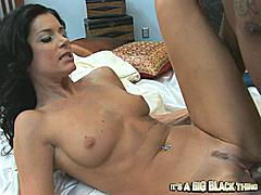Cyber-slut India Summer has been chatting online with a black dude and every time she does it her twat gets more soaking wet than the last time she logged in. Now all she can think about is meeting him and giving him the chance to force his big black log of a dick balls-deep into her hairless pink fuck-slot. When that big black thing finds its way into her throat she can't stop talking to it. You know the whore is loving your rod when she starts talking to your cock and leaving you out of the conversation! Black dick so big it makes her pussy gape wide and you can see the folds of her pink parts clinging to the edge of his shaft desperately trying to hold herself together. She worships big black cock and she tells you so throughout the scene. It's so hot to see a slut who accepts her role in life one like India who knows that pleasing black pole should always be her top priority. She cums twice during this scene… both orgasm are real and you'll love them when you see them!Dirty-talking housewives like India need big black dick too!- Relentless