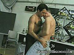 These two gay fuck buddies wanted to have a last hurrah before they never see each other again. They hooked up for a one last fuckfest and gave each other a wild oral pleasure. These hot gays were more than ready to fill their mouths with large cocks.