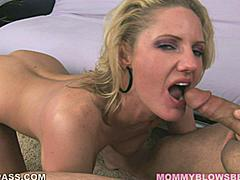 Zoe Holiday is the definition of an oral slut. This orally fixated MILF is all mouth lips and tongue and she can't keep her mouth off a cock. She goes from unzipping his pants with her teeth to licking and sucking his balls into her wet mouth. A woman who likes sucking cock this much definitely knows her way around the shaft and she leaves a wet trail all the way from the head of his cock down to his balls until she's drooling all over his nutsack. With a MILF this kinky ball sucking isn't just an afterthought. It's practically the main event.