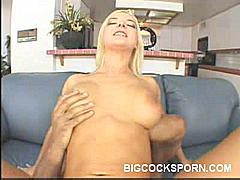 Just when you thought that Barbara and her boyfriend were done screwing each other, their at it again and fuck like horny rabbits in this scene. This time, she lies down and spreads her legs wide. He starts fucking her pussy with his erect big cock.