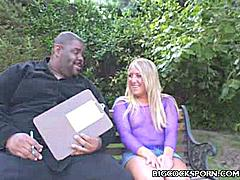 It really doesn't get any hotter than seeing Jules Van Saint swallow a big cock. Jules Van Saint has a soft spot for black guys with big dicks. She's the type who would fuck any guy that comes her way and there's nothing better for her than a huge black dick.