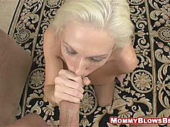 Kasey Grant looks great on her knees and when she's down there i don't even mind the state of that fucking rug she's on!  I mean do these guys have any taste at all?  At least they got the hot mom right man! This hot milf couldn't get much better when you see her get going and as the time goes on you can certainly tell what we're trying to prove that mommy does truly blow best!