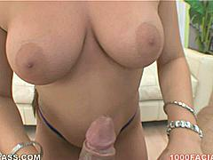 """The nicest words a girl like Talia Palmer can ever say to you are """"I'm gettin' ready to suck your dick"""" and within the first couple moment of this awesome scene she shows off her natural tits and tells you exactly why she is here today! Her filthy vocabulary and natural tits definitely add to the allure of her oral sex skills but it's the pink and white swirl and fingernails stroking your rod as you pump her mouth that gives the greatest visual excitement - until the huge wad of cum splashed all over her face at the triumphant climax of this very sticky xxx performance!"""