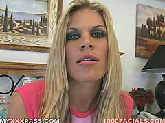 Kelli Brooks may be new to rollerblading but she isn't new to sucking dick that's for sure! Some girls when you sink your cock into their throats it just feels like they know exactly what they are doing because they have been there so many times before. Kelli told us that some guys get intimidated by the fact that she has become such a deepthroat expert but if you have the confidence to get hard and stay hard for a real pro there is no better feeling in the world than leaving a sticky load all over Ms. Brooks talented face!