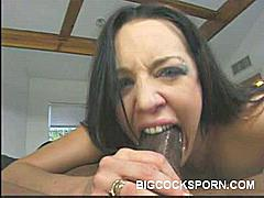 Sexy lady Deja Daire got herself fucked with gusto in this scene. She spreads her legs wide and welcomes her fuck buddy's big cock in her shaved pussy. She moans loudly while a ginormous dick drills in and out of her twat in this kinky porn flick.