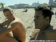 It really doesn't get any hotter than this! We have this video of two hard muscled gay men kissing and stripping off their clothes to expose their big muscles and raging cocks for the camera then go all out in an intense gay anal scene.