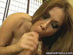 Kianna Dior enjoys seducing guys with her massive set of tits. Here we put her to the test by setting her up with this horny guy who gave her lots of cock pounding in her pussy and by the end of it this Asian takes a big wad of fresh cum in her big tits.