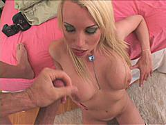 Deborah Prat is a busty blonde babe that is always horny and wants a dirty sex! And she wanted to get blasted with a messy hot cum on her face! The cock decided to fire her on face! Count to 10 9 8 7 6 5 4 3 2 1 0.. Then that's it she get blasted on her face with a messy huge facial cum!