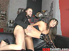 Whose the biker Babe with the big tits and the riding skills? That's Christey Charmane the newest raven-haired harlot to service her man right here on 1000 Facials! Christey has been catching cumshots for years but even as a twenty-two year old cocksucker she still has so much to learn. Lucky for her she has come to right place when it comes to cum training. Watch the way her costar shows her that fucking and sucking really well do not mean much unless she is in the perfect position to be facialed when the time cums!Christey Charmane Loves Learning New Cum Tricks- Relentless